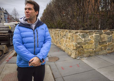 Jack Burkman, the lobbyist who has put a sizable donation to solve the murder of Seth Rich, canvasses the neighborhood of the murder in Washington, DC.