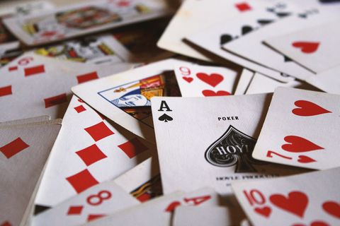 Games, Card game, Gambling, Recreation, Poker, Material property, Font, Casino, Number, Carmine,