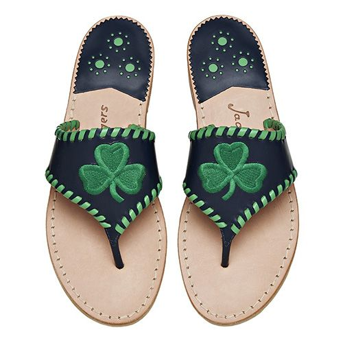 jack rogers shamrock flip flops