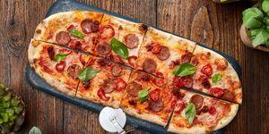 Zizzi jackfruit and pepperoni pizza