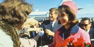 Jackie Kennedy the day of JFK's assassination in Dallas