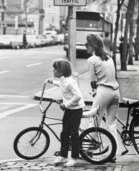 John Kennedy et Jackie Kennedy ont fait du vélo dans Central Park