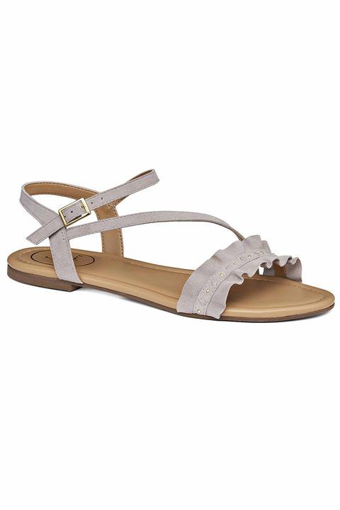Footwear, Sandal, Slingback, Beige, Shoe, Flip-flops, Strap,