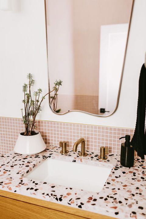 bathroom sink pink tile, pink counter home of jaclyn johnson of create  cultivate interior designer ginny macdonald b8 1psd
