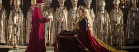 Jacob Collins-Levy and Jodie Comer in The White Princess.