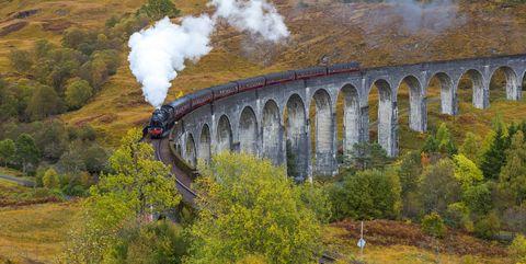 Hogwarts Express Jacobite steam train Scotland