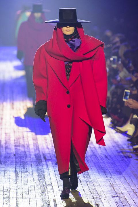 Fashion, Runway, Fashion show, Fashion design, Outerwear, Event, Mantle, Cloak, Haute couture, Fictional character,
