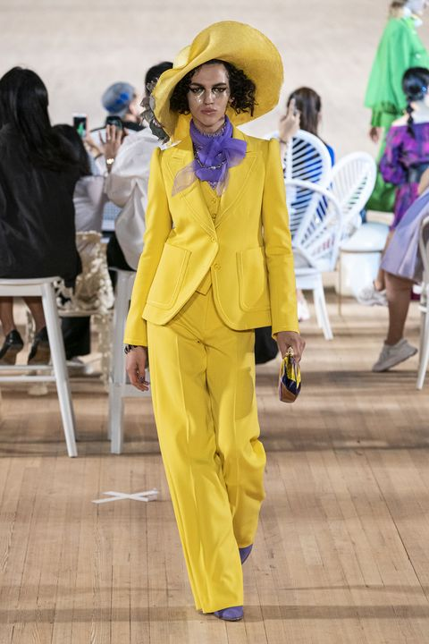 Yellow, Fashion, Fun, Outerwear, Costume, Suit, Pantsuit, Street fashion, Event,