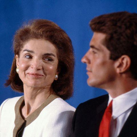 Jacqueline and John Fitzgerald Kennedy Jr jackie kennedy jfk jr