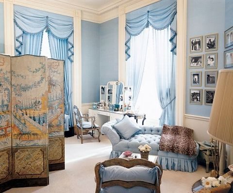 first lady jacqueline kennedy's dressing room at the white house, designed by stéphane boudin