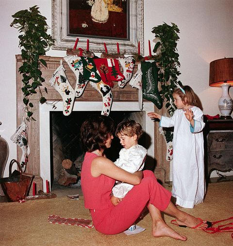 the kennedys on christmas morning