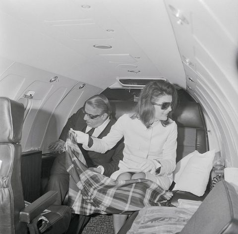 The Onassises on Private Plane