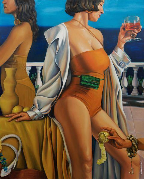 Cartoon, Art, Painting, Illustration, Leg, Modern art, Fictional character, Fiction,