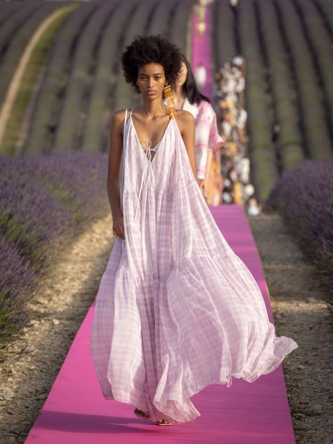 valensole, france   june 24 a model walks the runway during the jacquemus menswear spring summer 2020 show on june 24, 2019 in valensole, france photo by arnold jerockigetty images