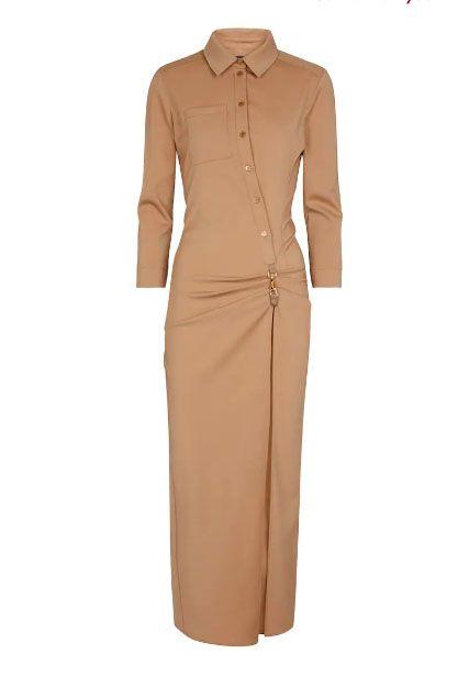 jacquemus la robe jurk stretch wool midi dress