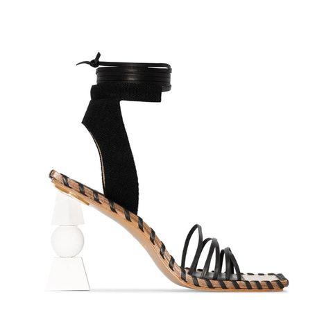 jacquemus valérie 105mm wrap tie sandals