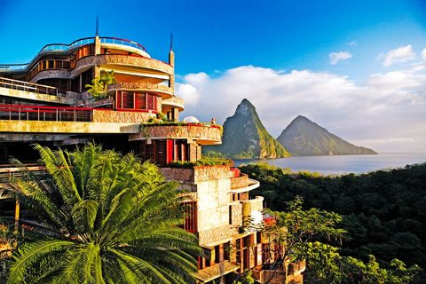Town, Landmark, Sky, Hill station, Architecture, Tourism, Palm tree, Building, Tree, House,