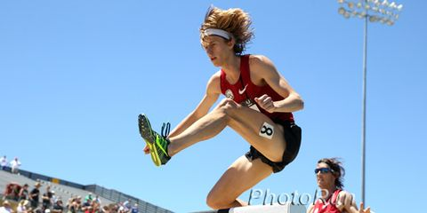 Evan Jager at the 2014 USATF championships