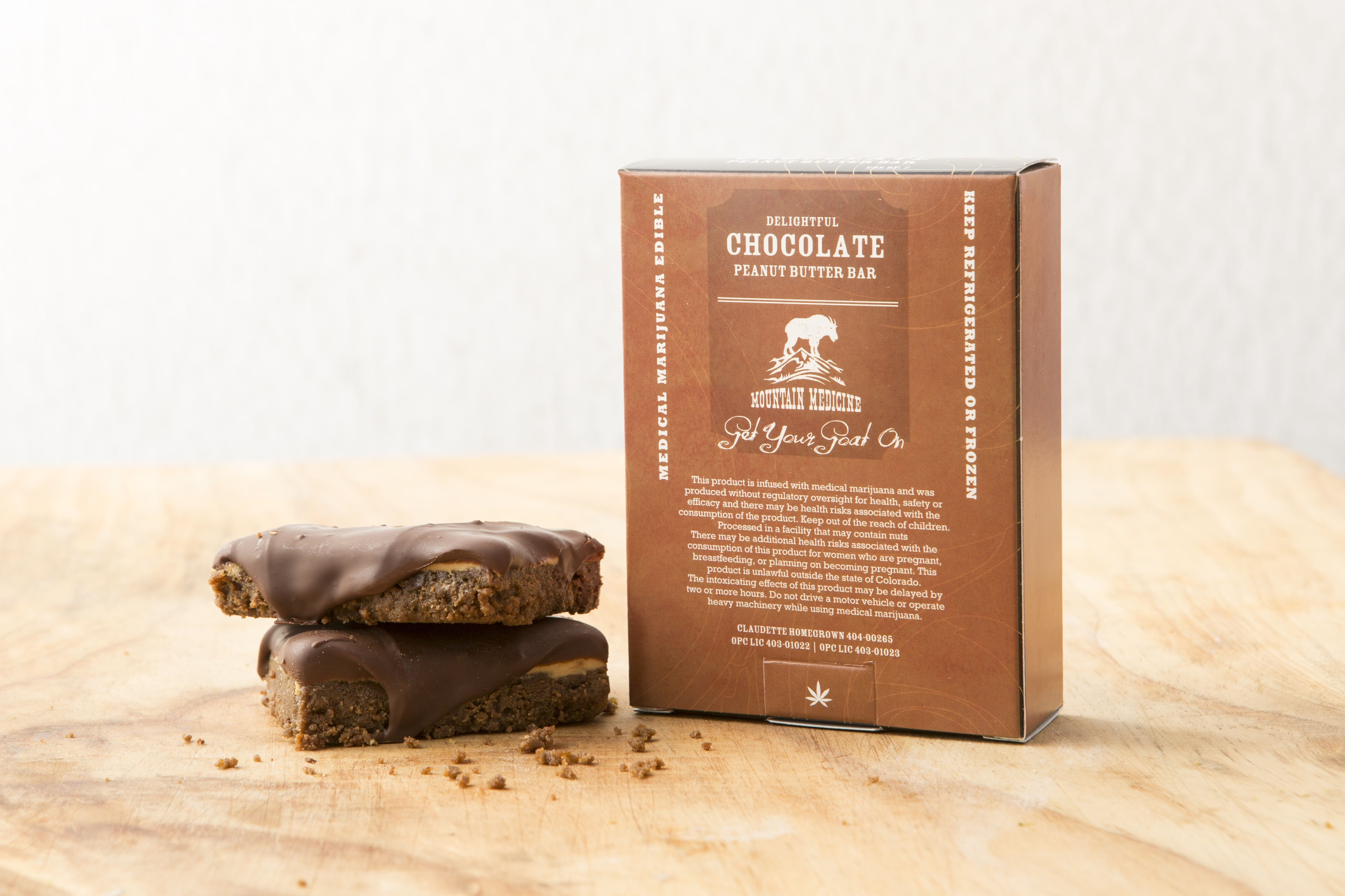 Lewis' Mountain Medicine line of medicinal edibles includes this peanut butter chocolate bar. Source: Jennifer Olson