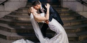 Hannah Winterbourne and Jake Graf's wedding picture