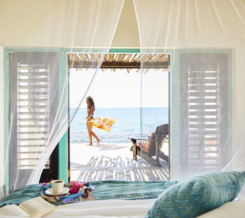 Room, Interior design, Curtain, Window, Window treatment, Vacation, Window covering, Textile, Leisure, Furniture,