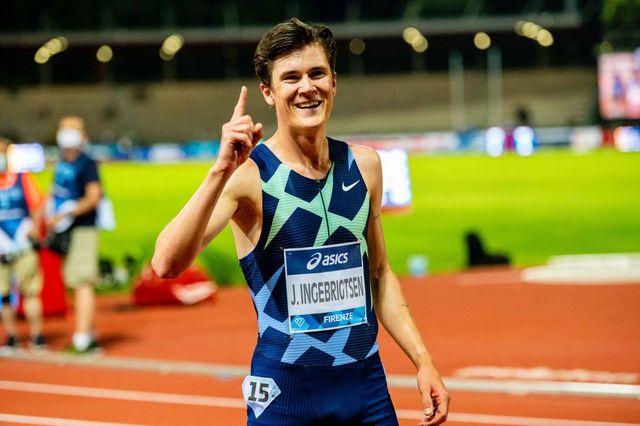 el atleta noruego jakob ingebrigtsen en la golden gala 'pietro mennea'