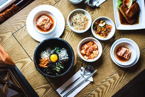 Dish, Food, Cuisine, Ingredient, Meal, Comfort food, Banchan, Produce, Vegetarian food, Steamed rice,