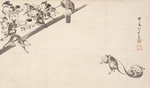 鼠婚礼図 細見美術館蔵 伊藤若冲筆