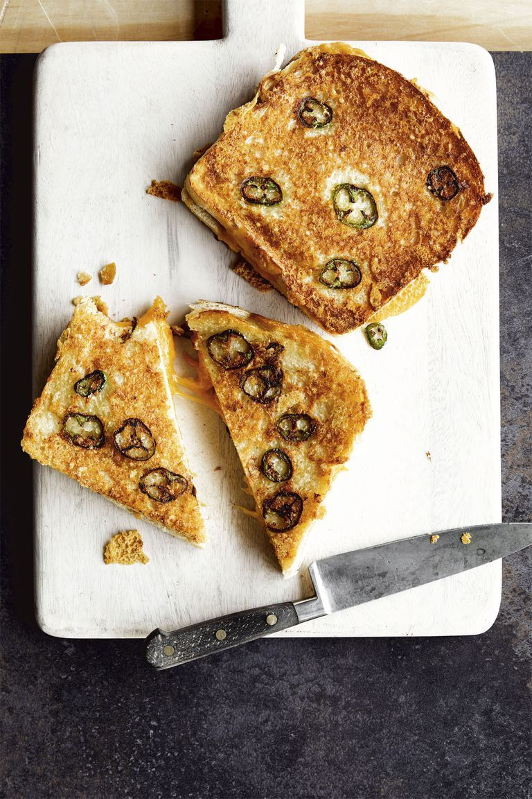 Jalapeño Parmesan-Crusted Grilled Cheese - Chrissy Teigen Recipes