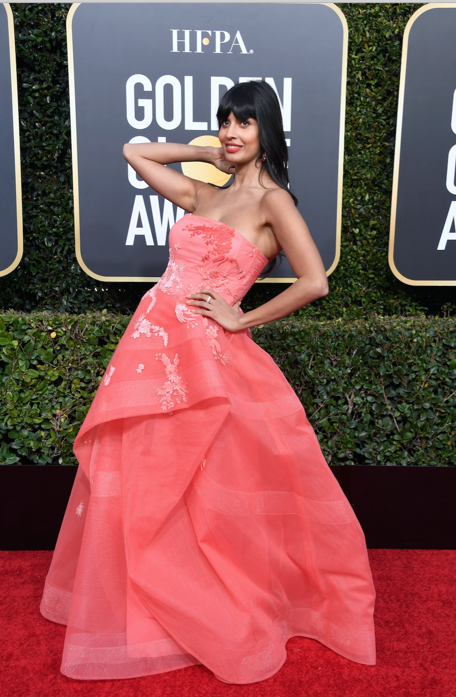 Jameela Jamil attends the 76th Annual Golden Globe Awards at The Beverly Hilton Hotel