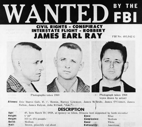 James Earl Ray asesino Martin Luther King