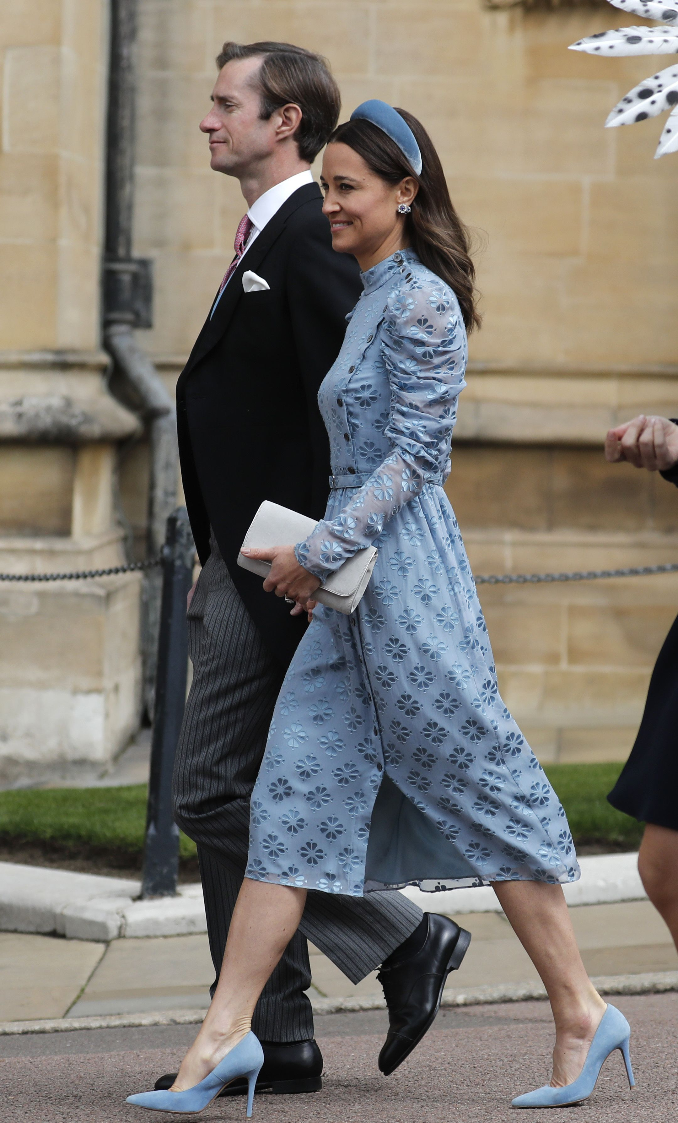 Pippa Middleton Wore a Beautiful Blue Kate Spade Dress to Lady Gabriella Windsor's Wedding