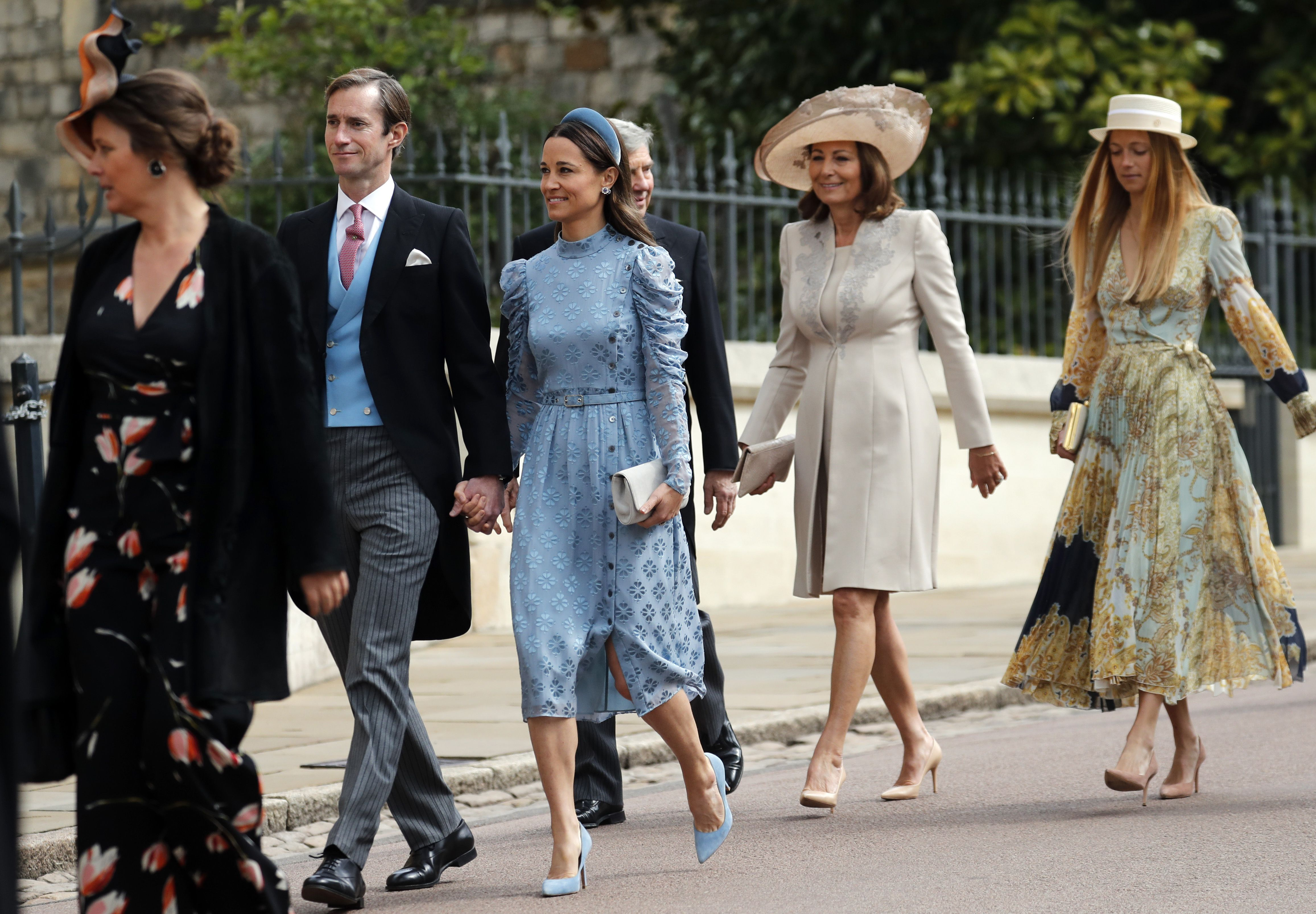 Pippa Middleton Looked Elegant In A Blue Dress At Lady Gabriella