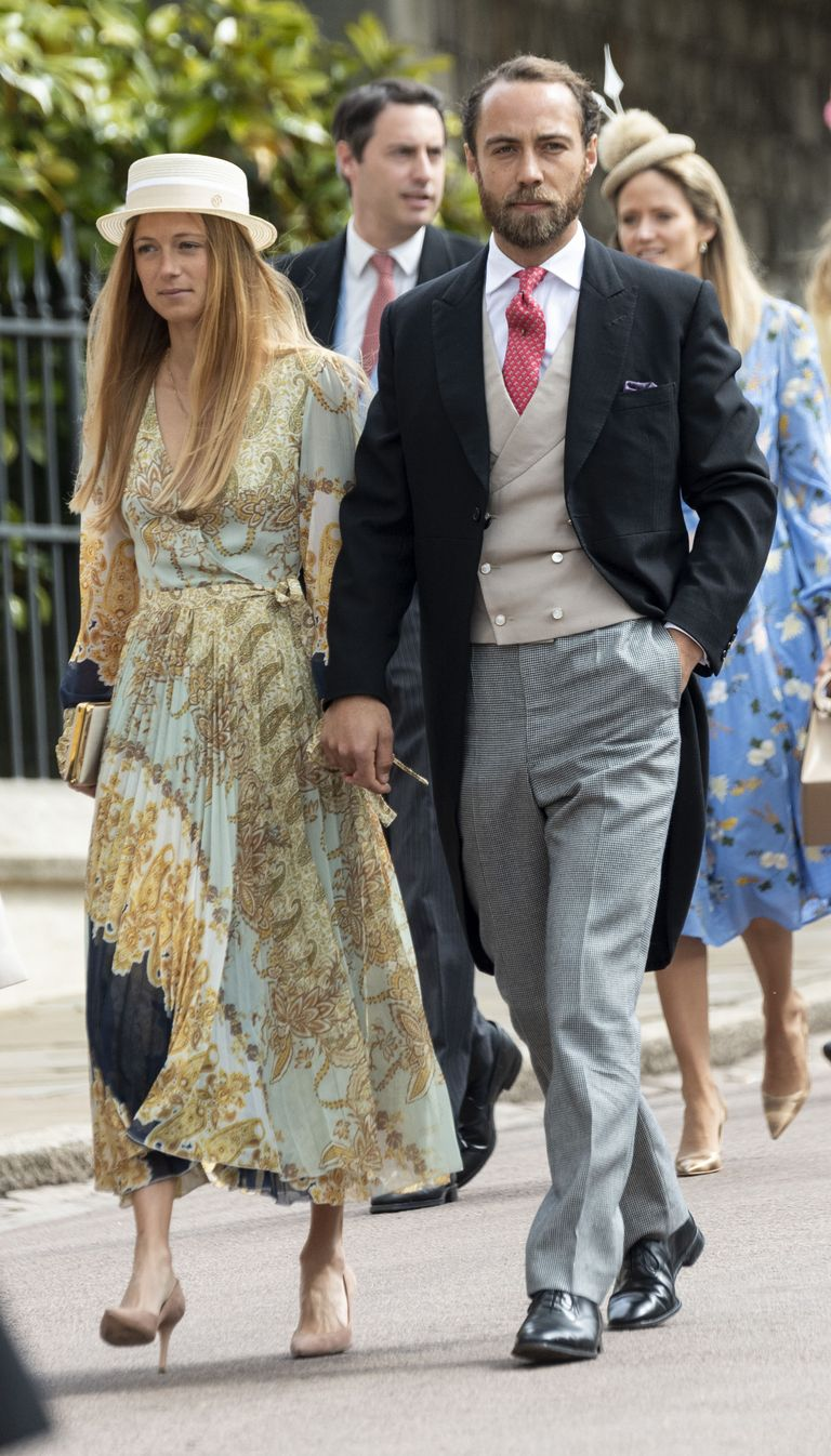 Thevenet and Middleton arrive at Lady Gabriella Windsor's wedding.