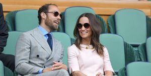 James Middleton con traje de Ralph Lauren en Wimbledon