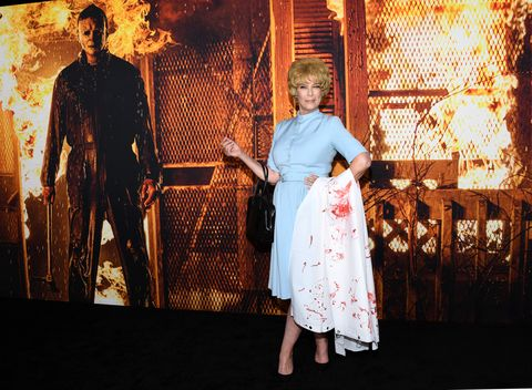 """costume party premiere of """"halloween kills""""   arrivals"""
