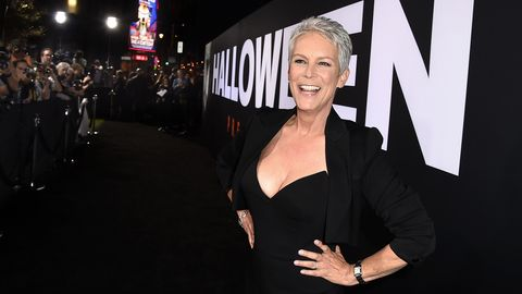 """jamie lee curtis at the premiere of universal pictures' """"halloween"""" at the tcl chinese theatre on october 17, 2018 in los angeles, california"""