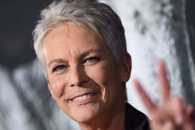 us actress jamie lee curtis attends the halloween premiere at the tcl chinese theatre in los angeles, california on october 17, 2018 photo by valerie macon  afp photo by valerie maconafp via getty images