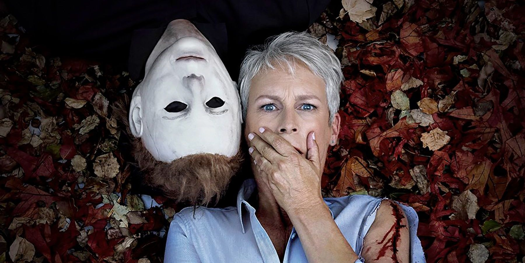 jamie lee curtis michael myers halloween 2018