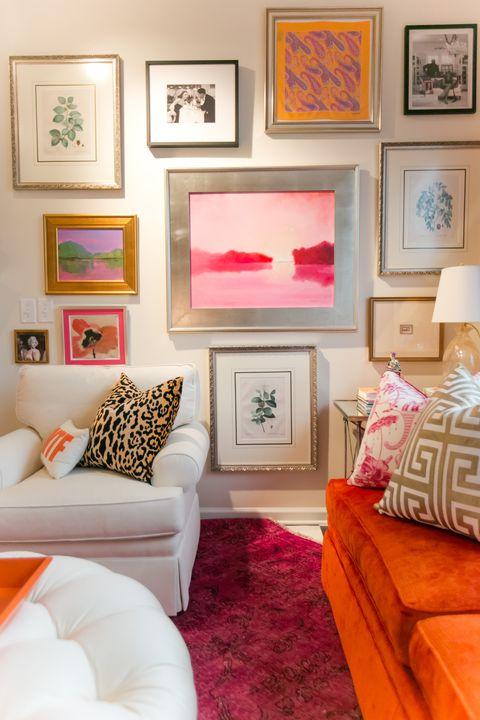 a gallery wall designed by amanda lantz