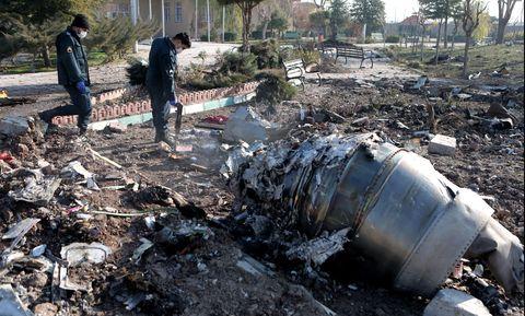 (SPOT NEWS)IRAN-TEHRAN-UKRAINIAN PASSENGER PLANE-CRASH