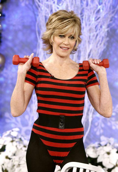 Jane Fonda entrenando