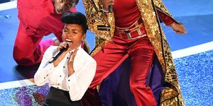 Janelle Monae and Billy Porter performing during the Oscars
