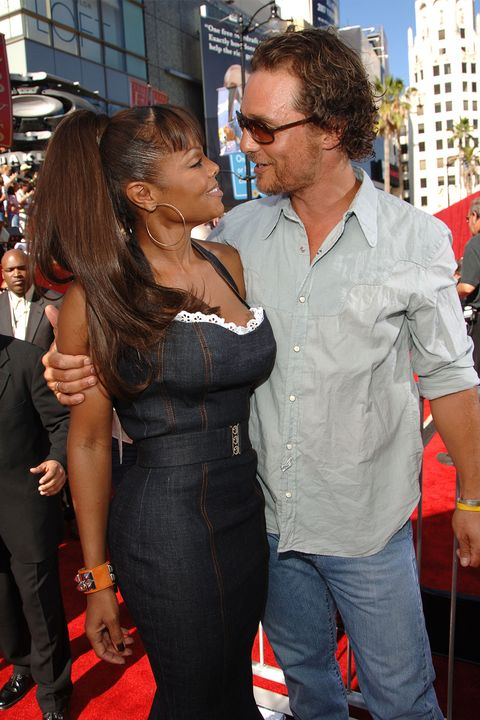 Red, Premiere, Interaction, Eyewear, Event, Jeans, Glasses, Long hair, Flooring, Red carpet,