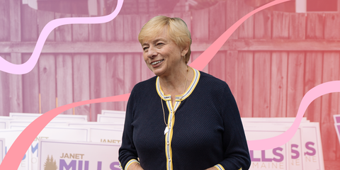 Janet Mills campaigns for governor in Maine