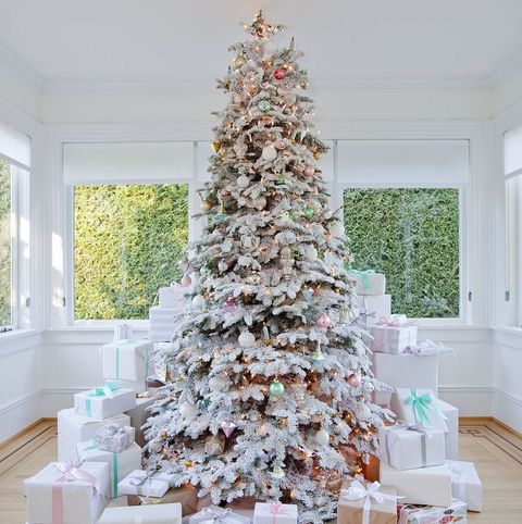 Christmas tree, White, Christmas decoration, Tree, Room, Christmas, Table, Interior design, Interior design, Home,