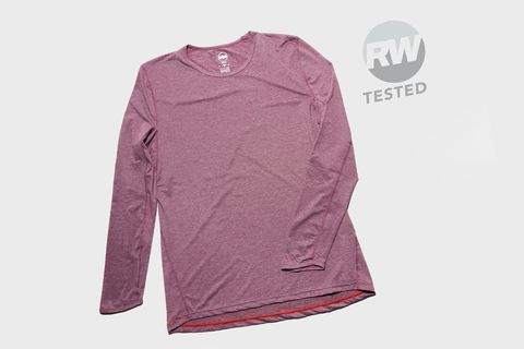 Clothing, Sleeve, T-shirt, Pink, Sportswear, Long-sleeved t-shirt, Jersey, Magenta, Outerwear, Violet,