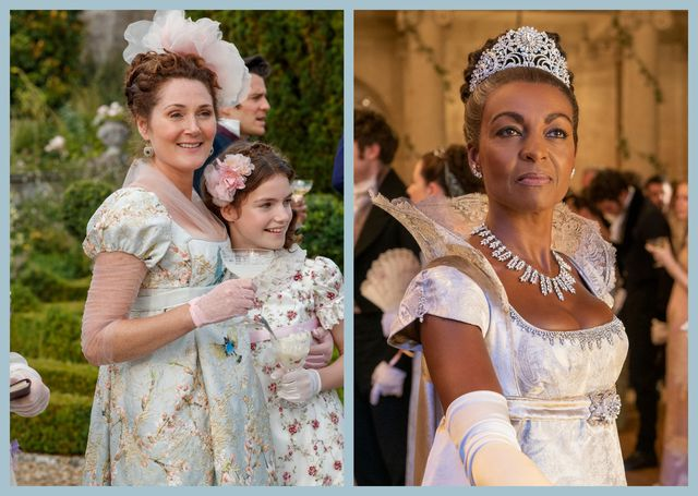ruth gemmell and anjoa andoh as lady violet bridgerton and lady danbury