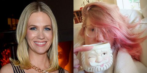 3588c836f1f image. Getty Instagram JanuaryJones. January Jones revealed her new pink hair  on ...