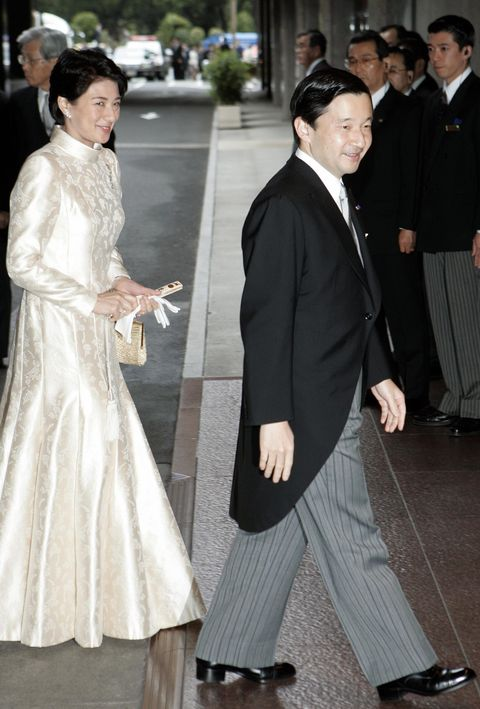 Japanese Crown Prince Naruhito (R) and C